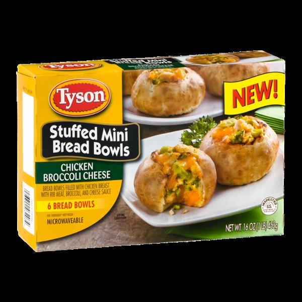 Tyson Stuffed Mini Bread Bowls Chicken Broccoli Cheese - 6 CT