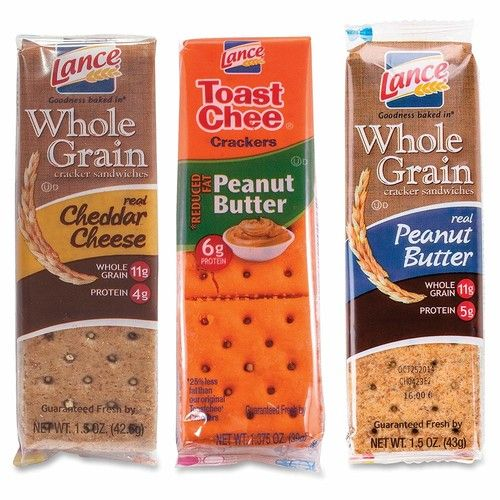 Lance 40626 Cracker Sandwhiches, Variety Pack, 24PK/BX