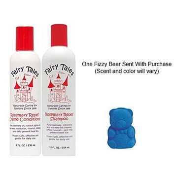 Rosemary Repel® Set - Shampoo, 12 oz and Conditioner, 8 oz and Bubbles Fizzy Bears 1 Piece (Scent Will Vary)