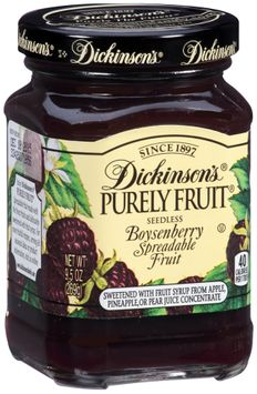 Dickinson's® Purely Fruit® Seedless Boysenberry Spreadable Fruit