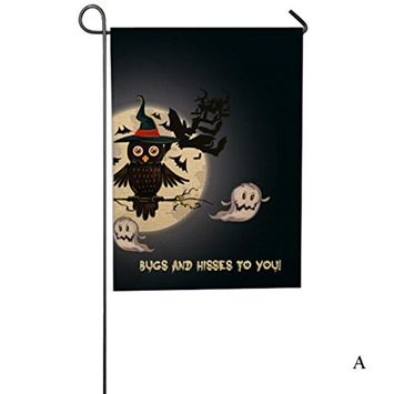 Sunfei New Halloween Weatherproof Decoration Custom Pumpkin Garden Flag 12x18 inch Hot
