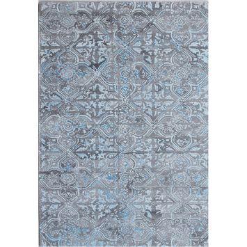 Crescent Drive Rug Company Posh Hand-Woven Gray/Blue Area Rug