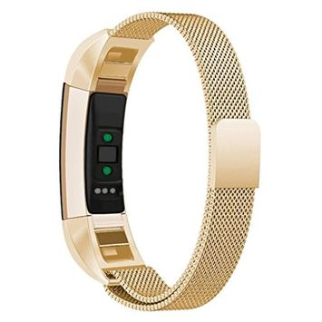 For Fitbit Alta HR,Sunfei Milanese Magnetic Tainless Steel Watch Band Wrist Strap (G