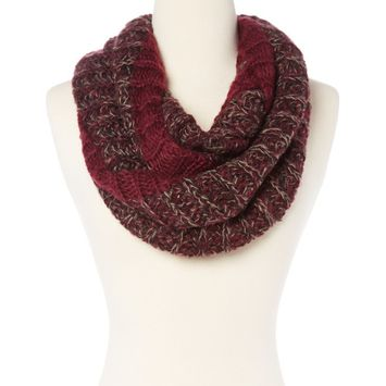Amtal Women Solid & Mix Stripes Knit Soft Lightweight Infinity Scarf - 3 Colors