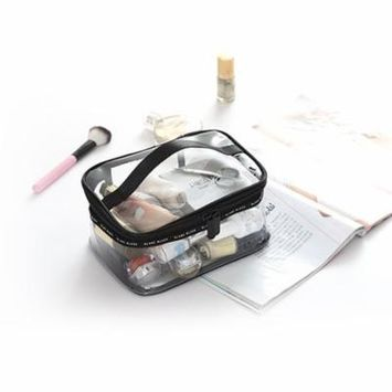 Cosmetic Bag Clear Transparent Travel Makeup Bag Waterproof Toiletry Organizer, Best for Holding Makeup, Shampoo, Soup and Medicine