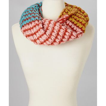 Amtal Women Winter 3 Colors Crochet Knit Holidays Soft Infinity Scarf w/Sequins