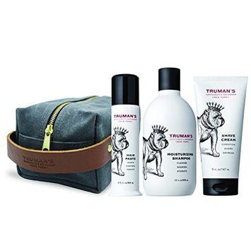 Truman's Gentlemen's Groomers Grooming Kit with Men's Shampoo, Hair Paste, Shave Cream