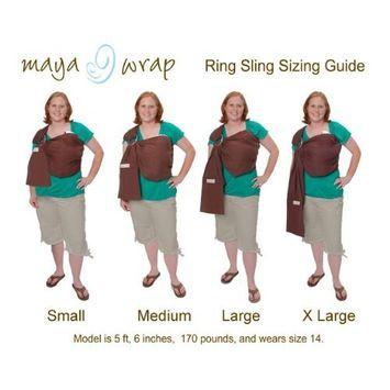 Maya Wrap Lightly Padded Ring Sling - Slate - Medium