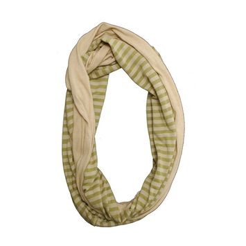 Amtal Women Solid Stripe Color Large Infinity Jersey Knit Fall Soft Casual Scarf