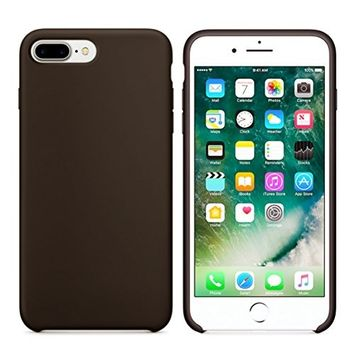 Iphone 7 Plus 5.5Inch Case,Sunfei Classic Thin Leather Type of Easy to Carry Case (Brown)