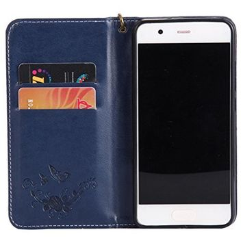 Huawei P10 Case,Sunfei Ultra Slim Layered Leather Flip Case Cover for Huawei P10