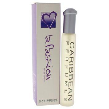 Caribbean Perfumes W-8996 1 oz La Passion EDT Spray for Women
