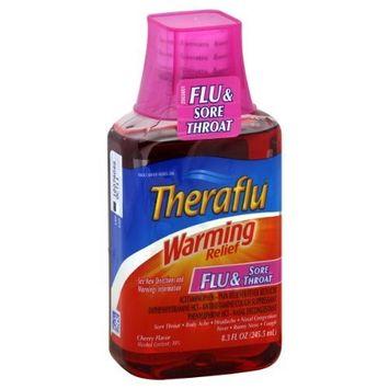 Theraflu Flu & Sore Throat Warming Relief Syrup-Orange-8.3oz