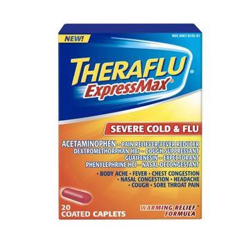 Theraflu® ExpressMax® Severe Cold & Flu Warming Relief™ Formula Coated Caplets 20 ct Box