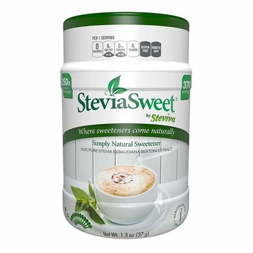 Steviva SteviaSweet - Pure Stevia Extract Fine Powder NonGMO Low Carb Sweetener (1.3/3 pack)