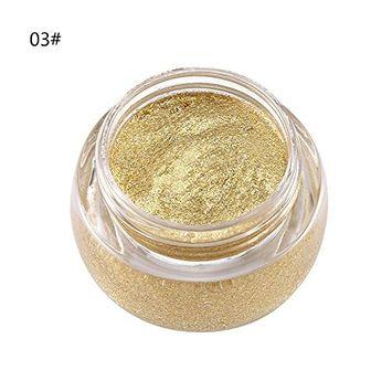 Huayang| Shining Bright Moisture Glitter Single Color Eye Shadow Gel Eyeshadow Eye Makeup
