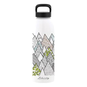Liberty Bottle Works Liberty Bottleworks Recycled 3003 Aluminum Coils BPA Free Flexible Food-grade Coating 24oz. Bottle (Fractal)