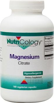 Nutricology/allergy Research Magnesium Citrate by NutriCology - 180 Vegetarian Capsules