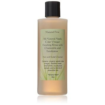 Natural First Organic Apple Cider Vinegar Finishing Rinse w/ Chamomile & Eucalyptus 8oz
