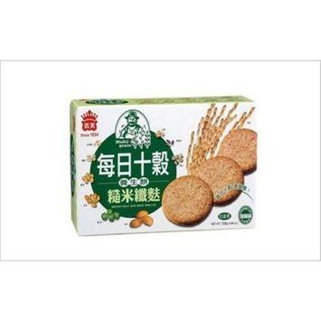 Imei Multi-grain Brown Rice and Bran Discuit 4.69oz (Pack of 2)