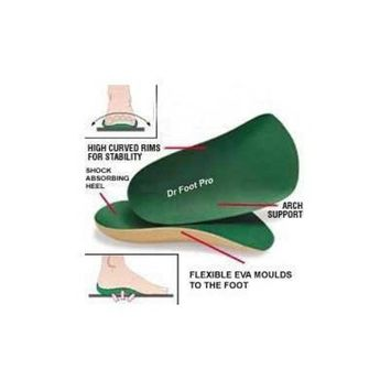 Dr Foot Pro Supination Insoles (3/4 length) Pair Extra Large