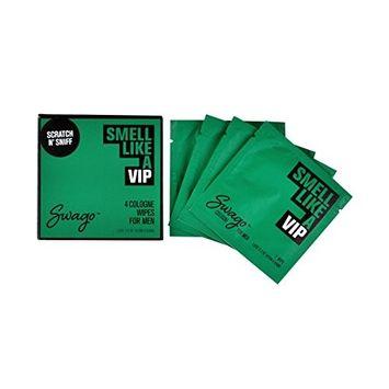 SWAGO Cologne Wipes 4 Pack VIP