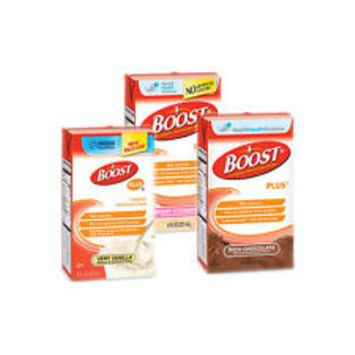 Boost PLUS Drink Combo Pack Vanilla, Strawberry, Chocolate 8 oz, 10 of Each - Case of 30 TOTAL