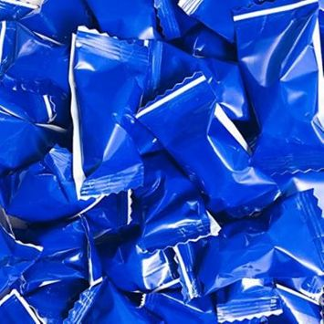 Buttermints - 13 oz. Bag - Approximately 100 Individually Wrapped Mints (Blue) -