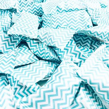 Chevron Blue Buttermints - 13 oz. Bag - Approximately 100 Individually Wrapped Mints [Chevron Blue]