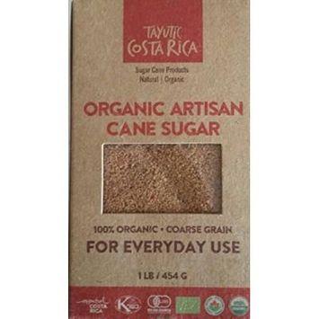 Tayutic Coarse grain Organic Whole Cane Sugar 16 Oz - Azúcar Integral Orgánico grano grueso (Pack of 1)