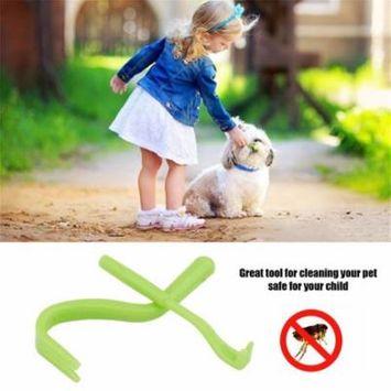 Mini Pet Flea Remover Hook Tool Human Dog Pet Horse Kitten Pet Comb Tools Plastic Accessory For Eliminating Flea green