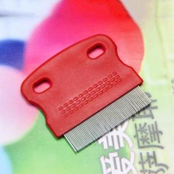 Pet Cat Dog Small Steel Fine Toothed Grooming Flea Comb Debris Removal Tool Dog Comb