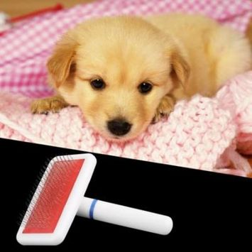 Pet Puppy Dog Cat Hair Grooming Trimmer Flea Comb Gilling Brush Slicker Tool