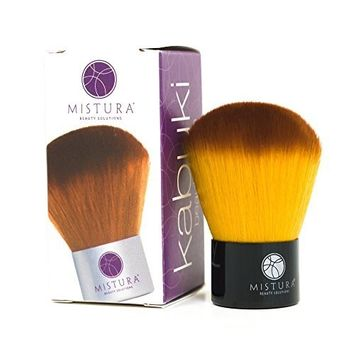 Mistura Kabuki Brush | Ultra luxurious, Can Be Used on Face and Body, Easy to Hold and Use! Unique & Soft Bristles