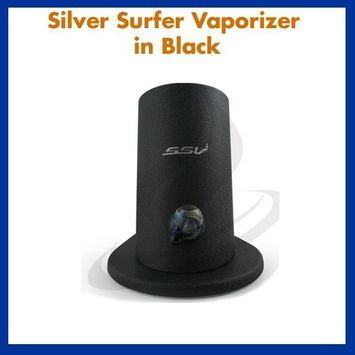 7th Floor Silver Surfer Vaporizer in Black Hands Free GG with SSV Hemp Carrying Bag