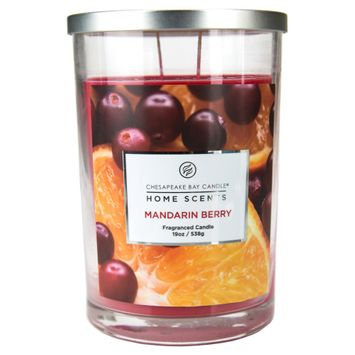 Home Scents Core Mandarin Berry Jar (19 oz), Red
