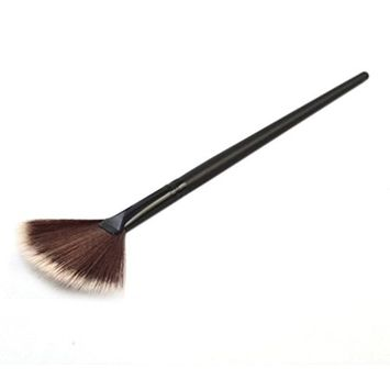 SMTSMT 1Pc Fan Brush Portable Slim Professional Makeup Brush-Black