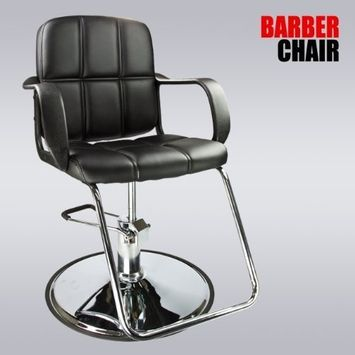 Black Modern Fashion Classic Hydraulic Barber Chair Hair Styling Salon Beauty by MTN Gearsmith