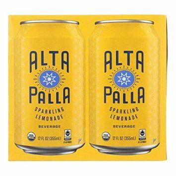 Alta Palla Organic Fair Trade Sparking Fruit Juice Beverage, Lemonade (6x4/12 FZ)