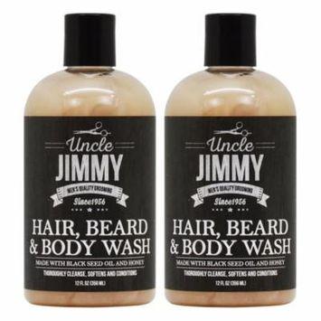 Uncle Jimmy Hair, Beard & Body Wash 12oz