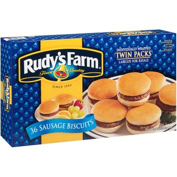 Rudy's Farm® Sausage Biscuits 36 ct Box
