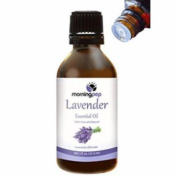 LAVENDER OIL 2 OZ by Morning Pep 100 % Pure And Natural Therapeutic Grade , Undiluted PREMIUM QUALITY Aromatherapy LAVENDER Essential oil , Bottle designed to convenient release one drop at a time
