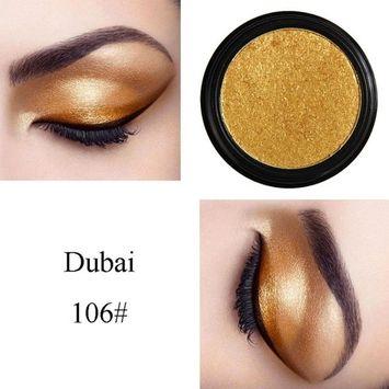 SMTSMT PHOERA Eyeshadow Palette Glitter Shimmering Eyeshadow Metallic Eye Cosmetic Makeup Highlighters (# 6)