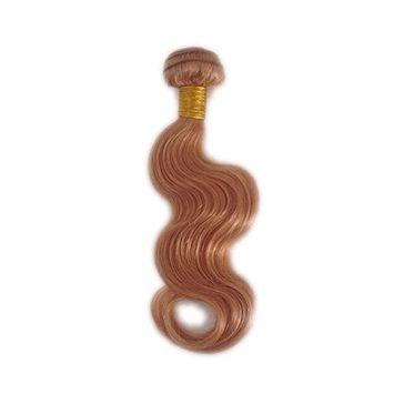 Cupidlovehair #27 Strawberry Blonde Color Body Wave Brazilian Virgin Human Hair Weft Extensions 100g/bundle (14
