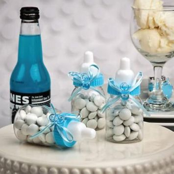300 Perfectly Plain CollectionBlue Baby Bottle Favors