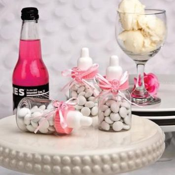 150 Perfectly Plain CollectionPink Baby Bottle Favors