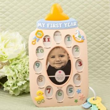 My First Year Baby Bottle Collage Frame