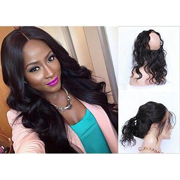 Cupidlovehair Body Wave Raw Indian Virgin Human Hair All Hand Made 360 Full Lace Band Frontal Baby Hair Natural Black Wavy