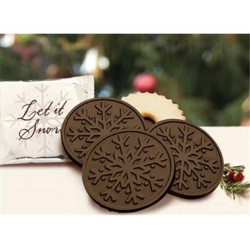 Chocolate Chocolate 320499 Snowflake with Mint Cookie - Dark Chocolate