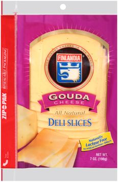 Finlandia® Natural Gouda Cheese Deli Slices